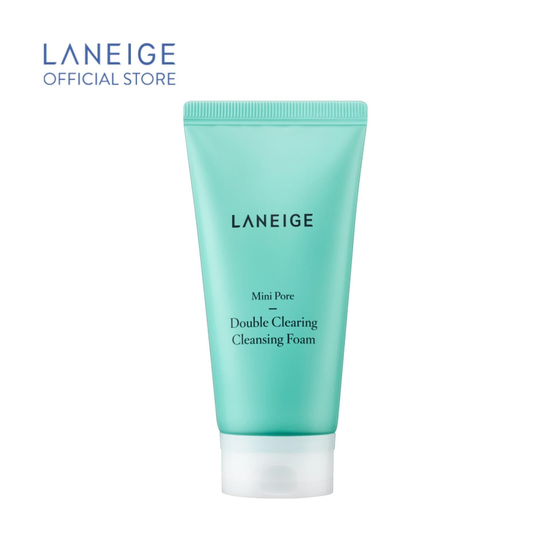 Sữa rửa mặt làm sạch sâu lỗ chân lông Laneige Mini Pore Double Clearing Cleansing Foam 150ml