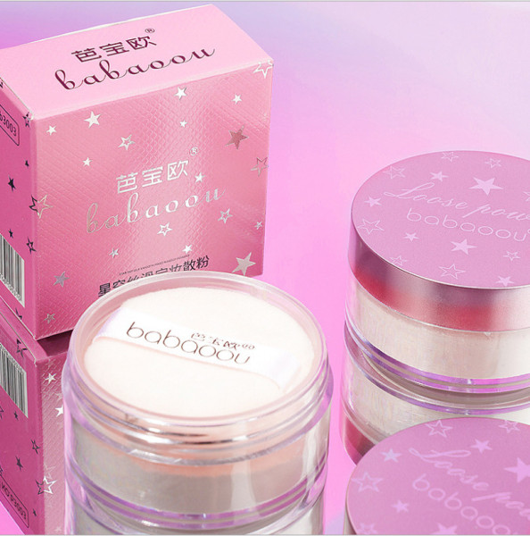 Phấn Phủ Trang Điểm Dạng Bột HỒNG LẤP LÁNH B3003 makeup powder kiềm dầu che khuyết điểm lâu trôi mềm mịn tự nhiên kiềm dầu nội địa chính hãng sỉ rẻ giá rẻ