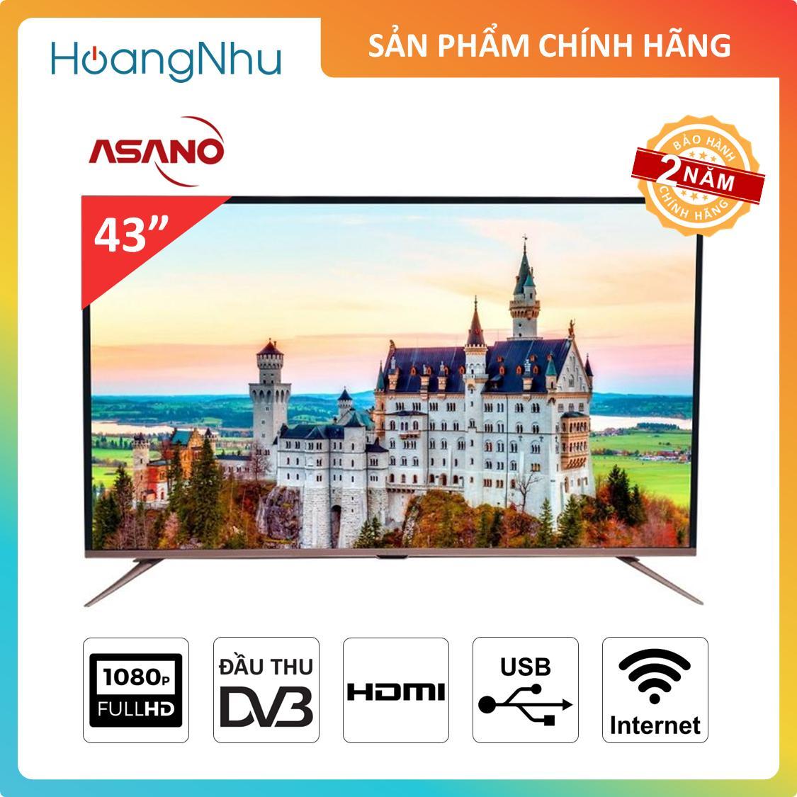 Bảng giá Smart TV Asano 43 inch 43EK3 (Tivi thông minh, Full HD, Wifi, Tích hợp truyền hình KTS) - Bảo hành 2 năm