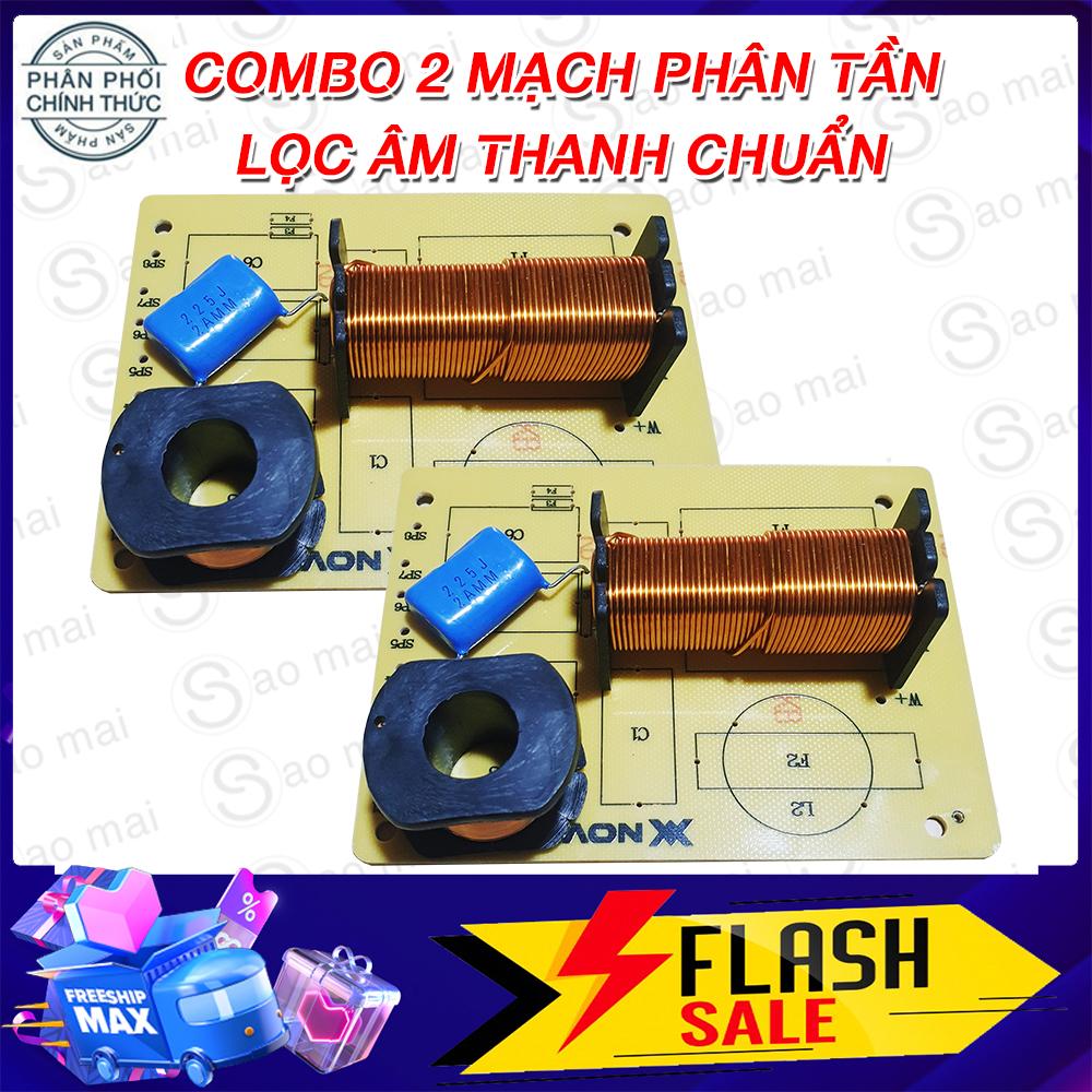 Combo 02 Mạch phân tần bass treble và bas trung treble bảo vệ loa, Nâng âm thanh lọc tiếng cho loa thùng cực hay.
