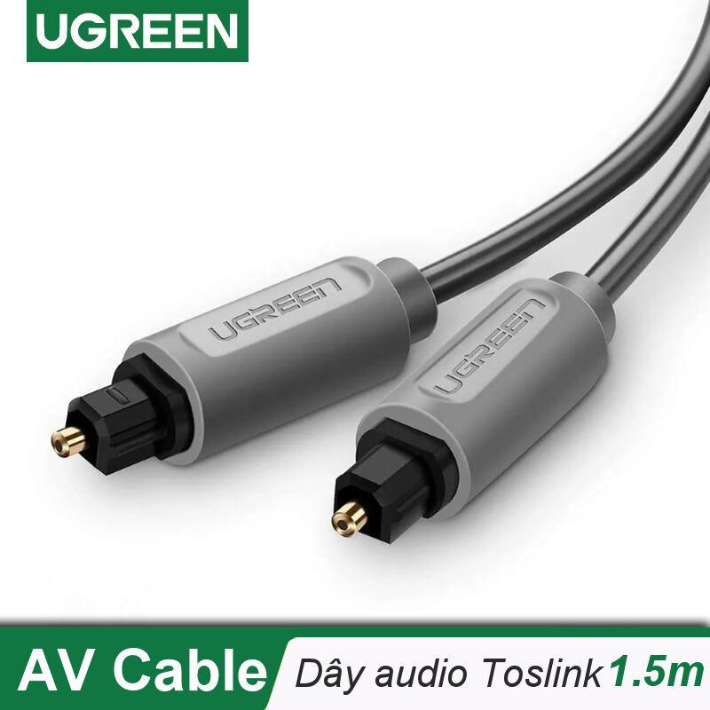 Bảng giá Dây audio quang (Toslink, Optical) dài 1.5M UGREEN AV122 10769 (xám) - Hãng phân phối chính thức. Phong Vũ