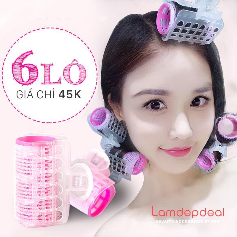 Bộ 6 Lô Uốn Tóc Tự Dính Có Kẹp - phụ kiện tóc giá rẻ - Lavy Store cao cấp
