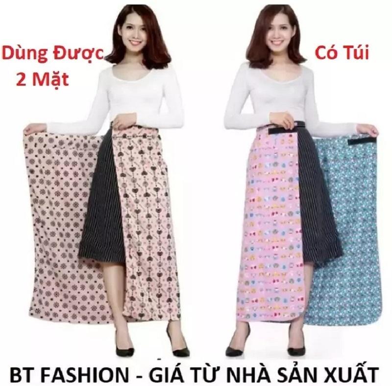Váy Chống Nắng  2 Lớp + 2 Mặt, Có Túi Tiện Lợi - BT Fashion - Vải Kate Loại Tốt - Giao màu ngẫu nhiên (VCN01)