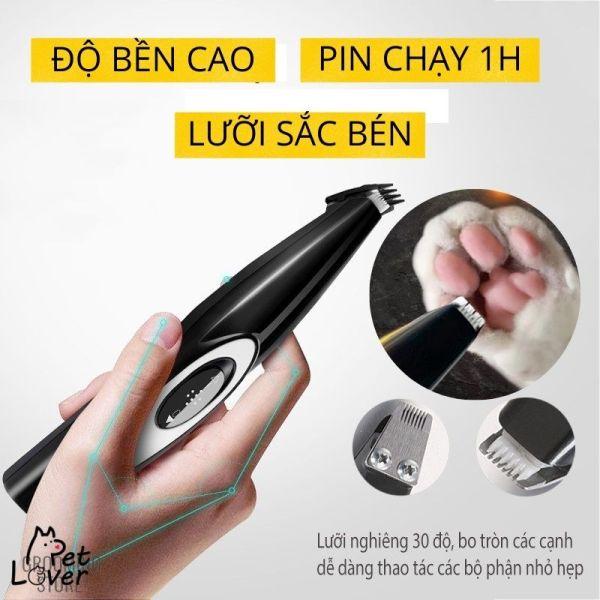 Tông đơ cạo lông bàn chân cho chó mèo HK-275A, tông đơ cắt lông chân chó, phụ kiện đầy đủ, máy êm, kèm lưỡi thay thế, lỗi 1 đổi 1 - Petlover
