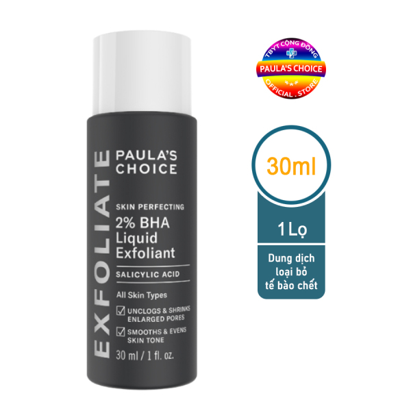 Dung dịch loại bỏ tế bào chết Paula's Choice Skin Perfecting 2% BHA Liquid Exfoliant 30 ml cao cấp