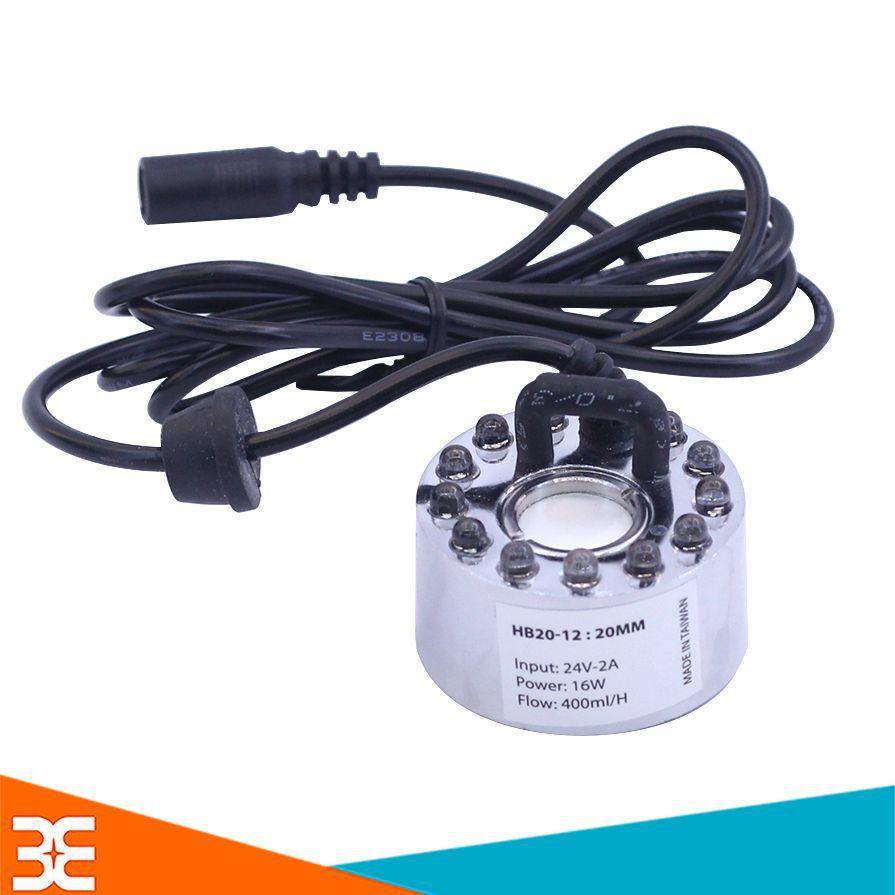 Bảng giá Động Cơ Phun Sương HB-20 Có Đèn 20mm 24VDC 16W 400ml/h V1