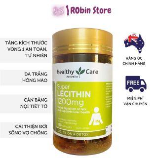 Mầm đậu nành tăng vòng 1 Healthy Care Super Lecithin đẹp da, cân bằng nội tiết tố, hộp 100 viên - Robin Store thumbnail