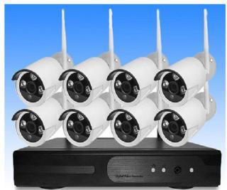 Bộ Kit Camera 8 Kênh Không Dây NVR KIT 1.0MP HD thumbnail