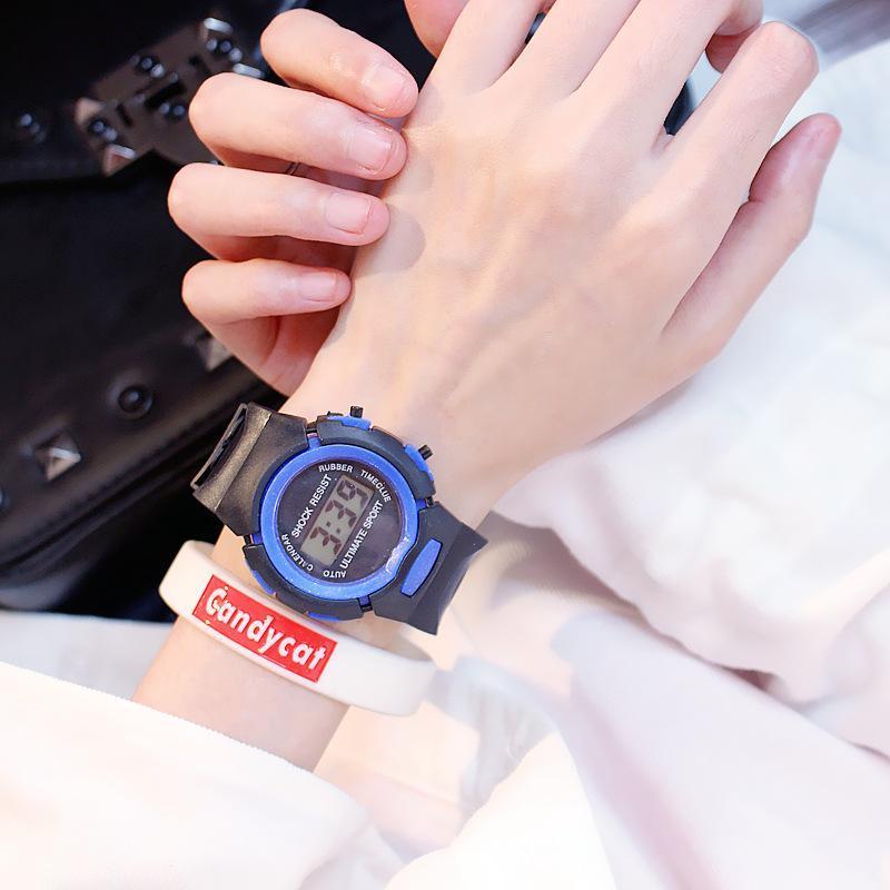 Nơi bán Đồng hồ dây cao su, đồng hồ thể thao điện tử cho bé Candycat C1105, dây cao su mềm mại chịu nước sinh hoạt