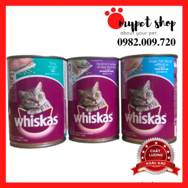 Pate Vị Cá Biển/Cá Thu/ Cá Ngừ Whiskas Cho Mèo (Lon 400g)