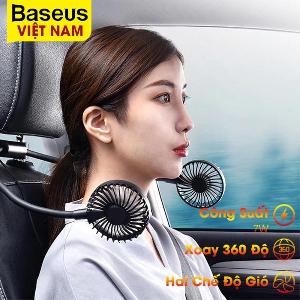 Quạt đôi Baseus xoay 360 độ, công suất 7W, hai chế độ gió sử dụng trên xe hơi - phân phối chính hãng tại Baseus Việt Nam