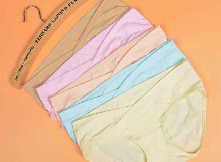 Sỉ lẻ 5 quần lót cho bà bầu, quần lót cotton bầu, quần lót bầu ( nhiều màu )