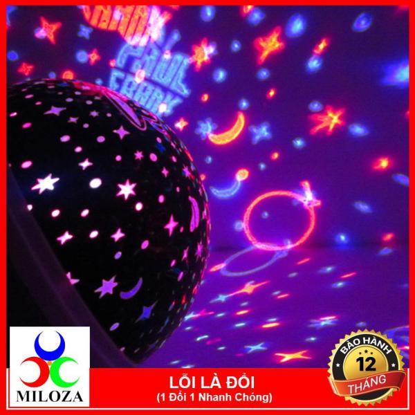 [XẢ KHO 3 NGÀY] Đèn trang trí - Đèn chiếu sao xoay - Đèn Ngủ - Đèn phòng hát - Đèn Karaoke - MILOZA - Tặng kèm 1 dây sạc trong hộp đèn