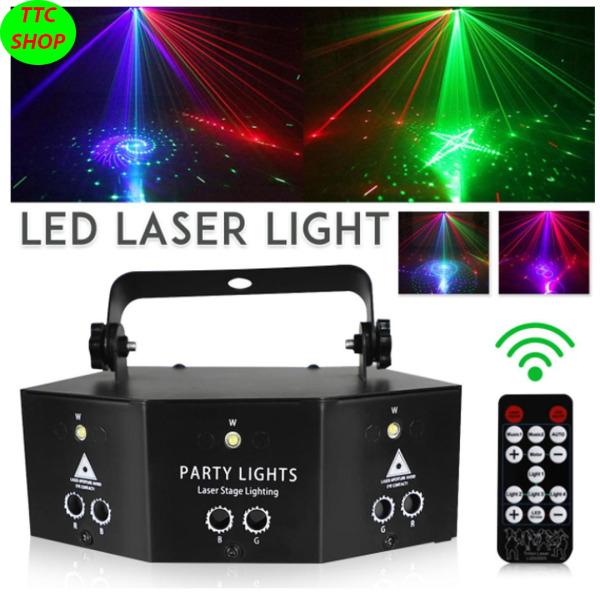 Đèn LED LASER vũ trường, trang trí karaoke, có remot điều khiển tiện dụng ( HÀNG CAO CẤP )