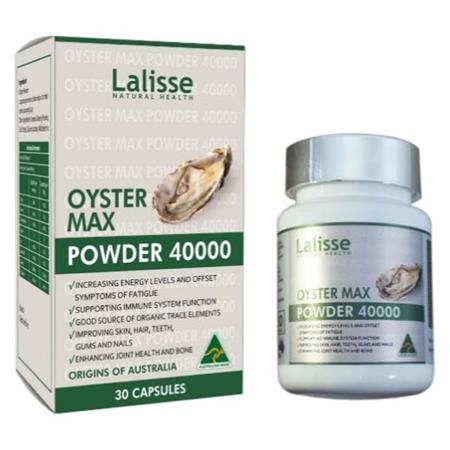 TINH CHẤT HÀU LALISSE OYSTER MAX POWDER 40000MG  Hỗ Trợ Tăng Cường Chức Năng Sinh Lý Hiệu Quả nhập khẩu