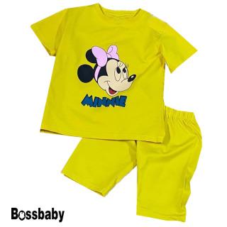 Bộ Quần áo trẻ em bộ đồ bé gái hình chuột cài nơ minne .Body tết cho bé gái,bé từ 6kg-29kg.BDBG24. thumbnail