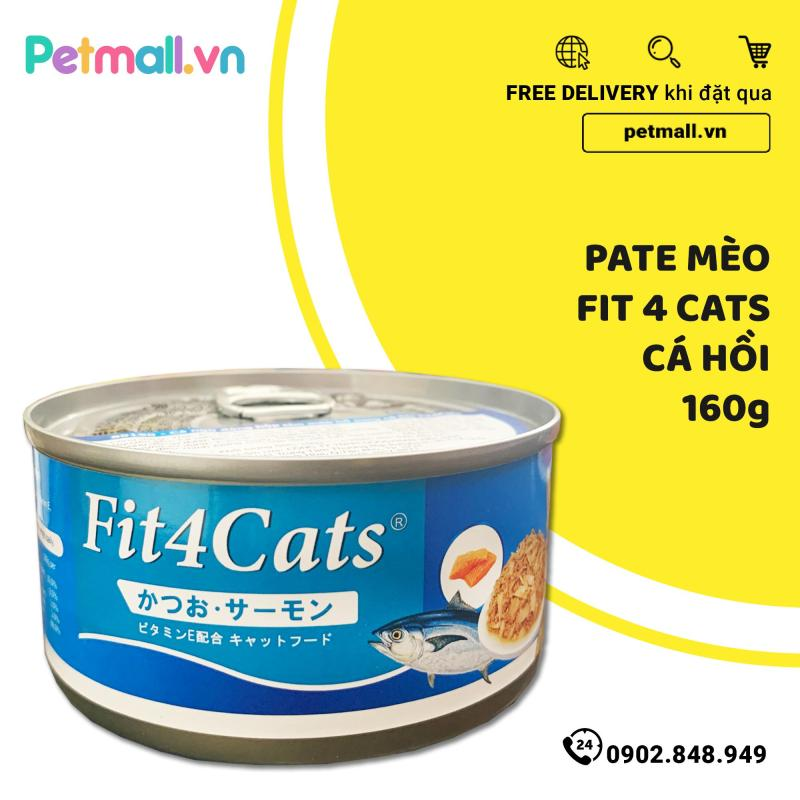 Pate mèo Fit4Cats Cá Hồi 160g - Salmon