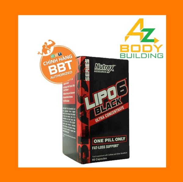 Thực phẩm hỗ trợ đốt mỡ Lipo 6 Black Ultra Concentrate - hộp 60 viên