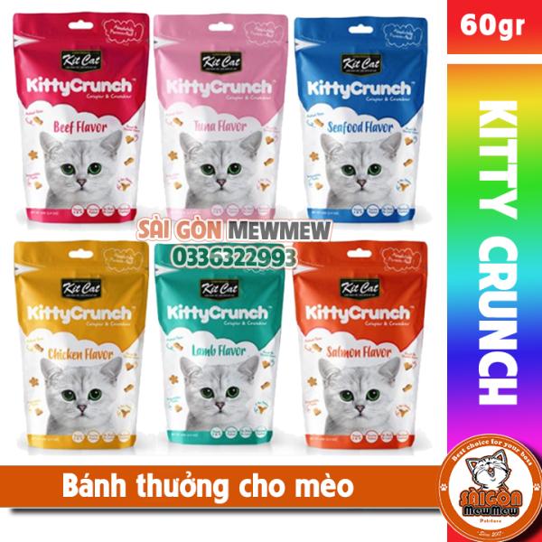 Bánh thưởng ăn vặt cho mèo Kitcat Kitty Crunch 60gr, sản phẩm đa dạng về mẫu mã, kích cỡ, chất lượng tốt, đảm bảo cung cấp sản phẩm đang được săn đón trên thị trường