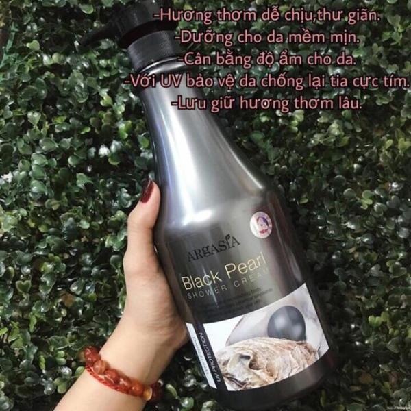 Sữa tắm trắng da Argasia Ngọc Trai 1100ml Malaysia (Màu Đen) giá rẻ