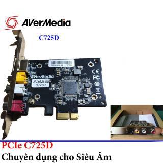 Card Chuyển Đổi PCI Ex sang AV, S-Video AVERMEDIA C725D(CE310B) Cao Cấp - Card ghi hình cho máy nội soi Avermedia C725D CE310B - Card ghi hình Aver Media EZMaker SDK Express C725D CE310B - Card ghi hinh siêu âm cổng Capture PCI Ex thumbnail