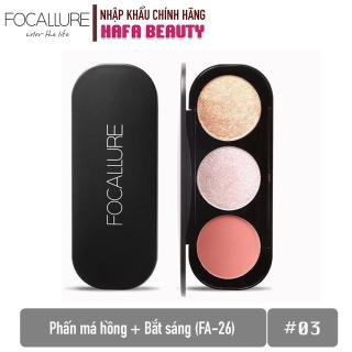 Phấn Má Hồng + Bắt Sáng Focallure Triple Colors Effect Blush & Highlighter Palette FA-26 thumbnail
