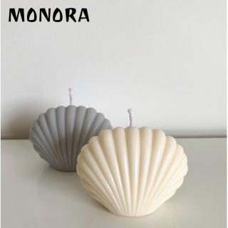 Nến thơm thư giãn hình Vỏ Sò MONORA C8 trang trí không khói sáp decor phụ kiện trang trí phòng - candle decor thumbnail