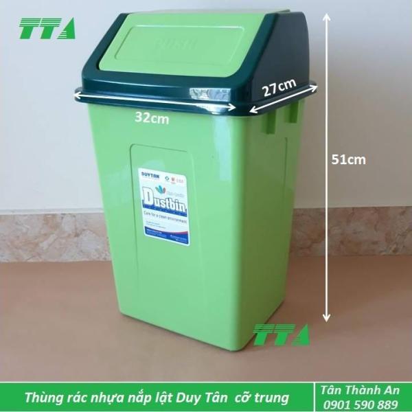 Thùng rác nhựa Duy Tân nắp lật cỡ trung
