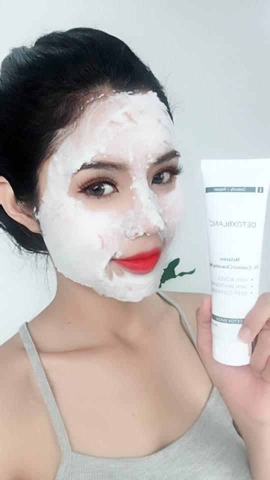 Siêu Combo Thải Độc Detox BlanC Mask + Serum Trị mụn Tái Tạo Da nhập khẩu