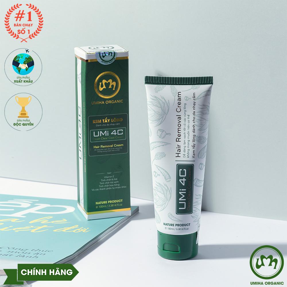 KEM TẨY LÔNG UMI 4C (100ml)   Kem tẩy lông an toàn cho cả da nhạy cảm hương thơm dịu nhẹ không gây đau rát   Sản phẩm chính hãng độc quyền