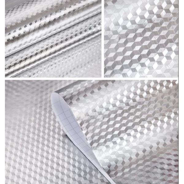 giấy dán tường sẵn keo tráng nhôm chịu nhiệt (61cm x 5m / cuộn)