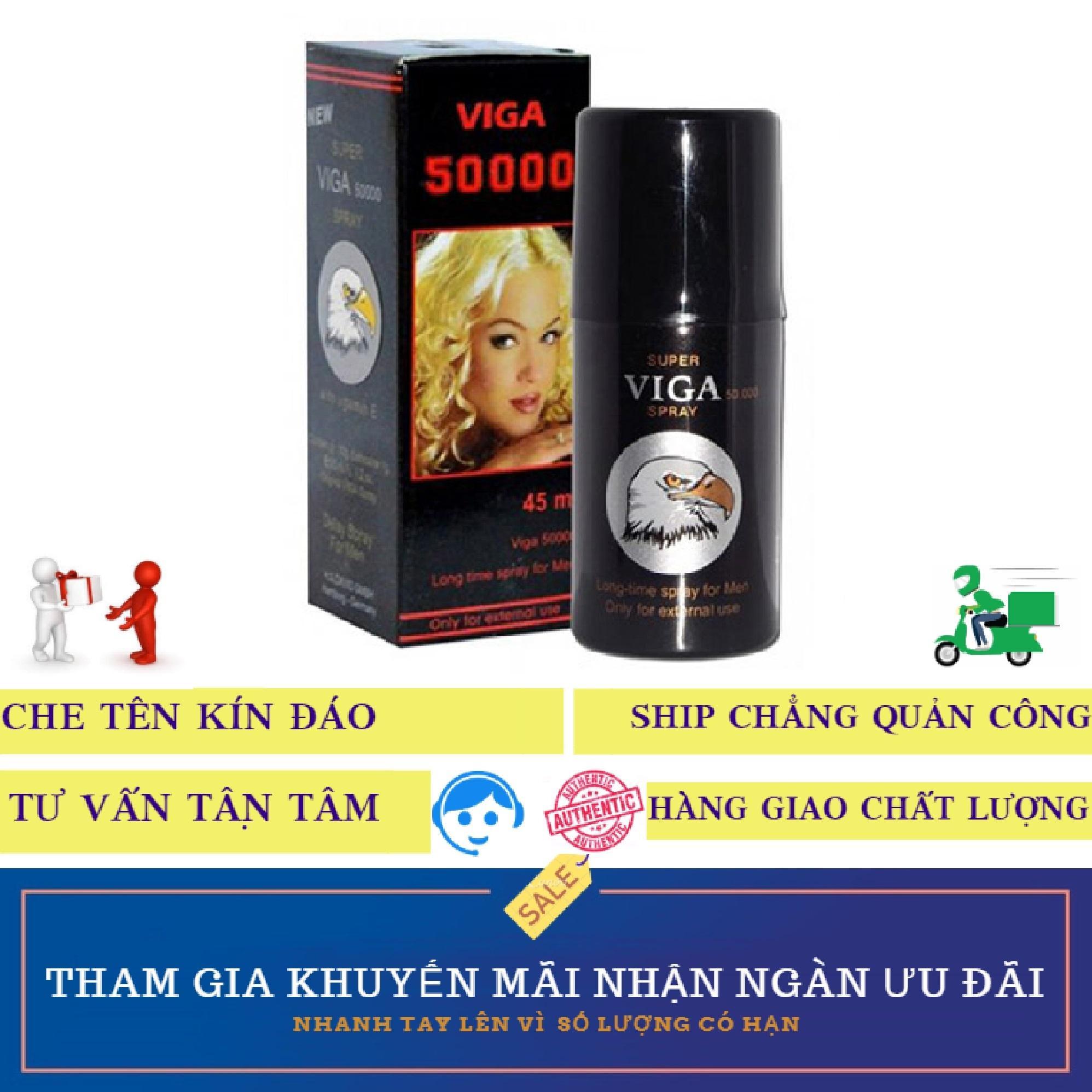 Chai xịt kéo dài thời gian, tăng sức khỏe và sức bền nam giới Super Viga Spray 50000 45ml tốt nhất