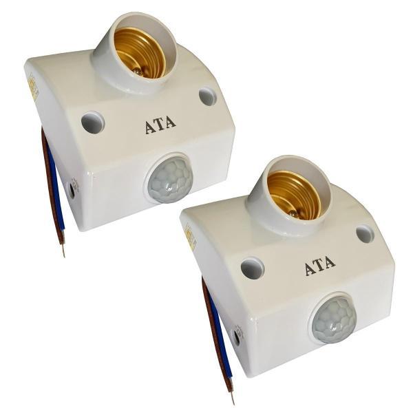 Bộ 2 đuôi đèn cảm ứng hồng ngoại mở đèn chỉnh được cảm biến sáng và thời gian ATA AT18A