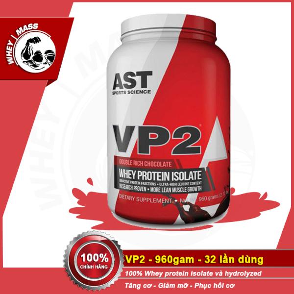 Sữa Tăng Cơ Bắp Không Tăng Mỡ AST VP2 100% Hydrolyzed Isolate Whey 2 lbs (908gram) giá rẻ