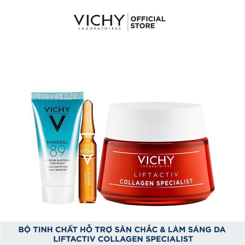 Bộ kem dưỡng hỗ trợ săn chắc, ngăn ngừa lão hóa và làm sáng da Vichy Liftactiv Collagen Specialist giá rẻ