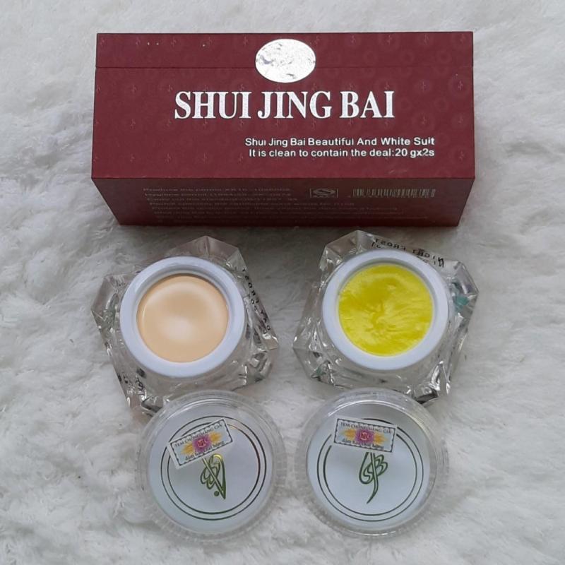 Bộ Kem Nám dưỡng trắng da Khử Nốt dẹp thủy tinh bạch Shui Jing Bai 20g giá rẻ
