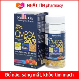 Viên dầu cá Omega 369 Bổ não, sáng mắt, khỏe mạnh tim mạch, tăng cường trí nhớ cho người từ 7 tuổi - Hộp 100 viên - NHẤT TÍN PHARMACY thumbnail
