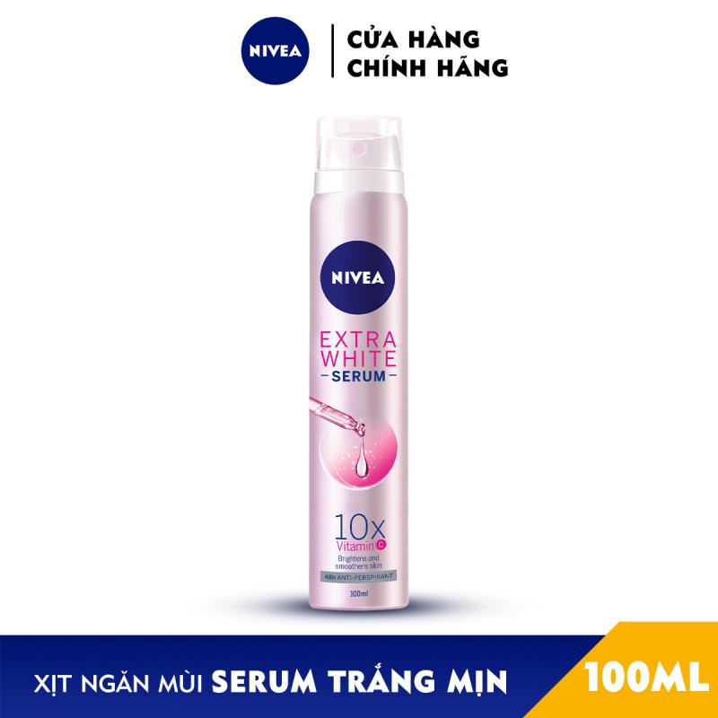 Xịt Ngăn Mùi NIVEA Serum Trắng Mịn (100ml) - 80020 cao cấp