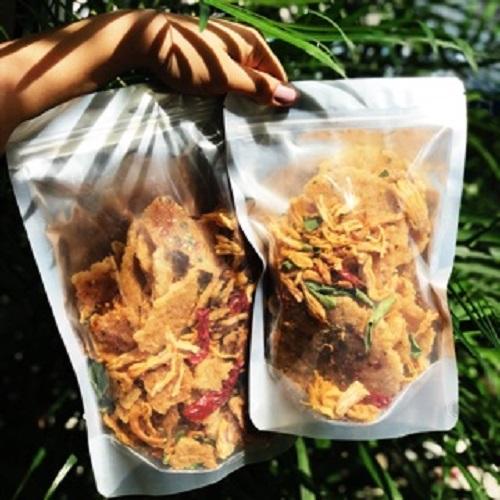 [HCM]500g cơm cháy mắm hành lắc khô gà  (đóng zip)- đồ ăn vặt