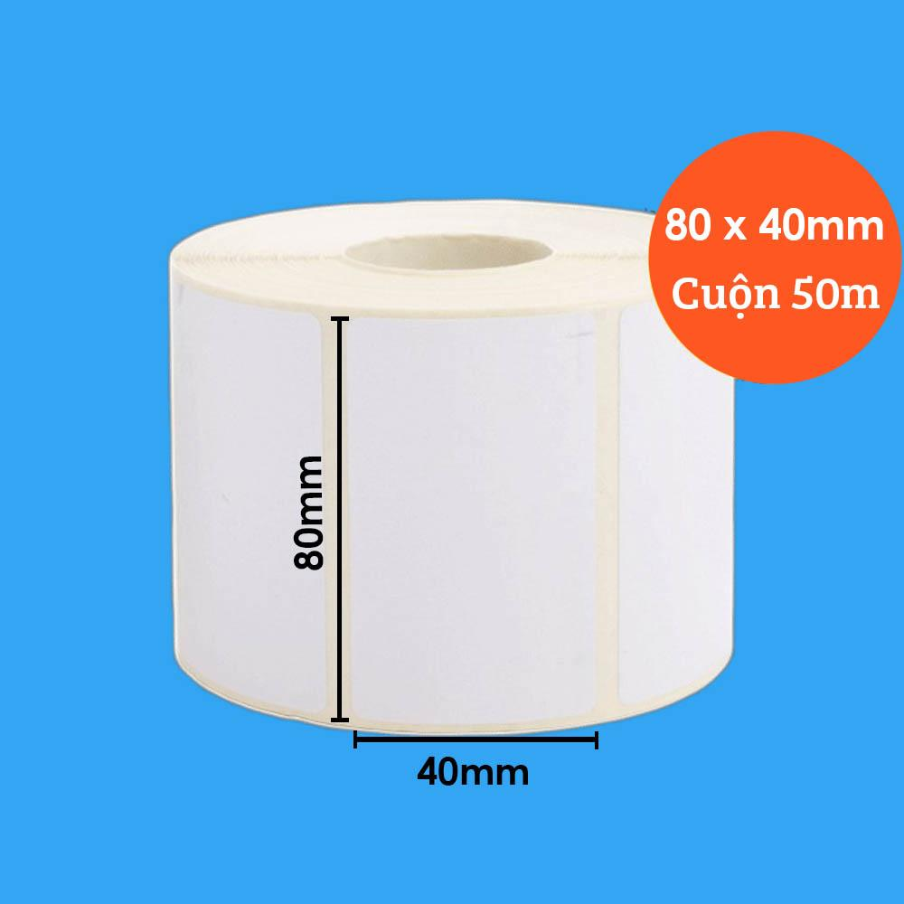 Mua Decal in tem nhãn 80x40mm, cuộn 50m DECAL-G