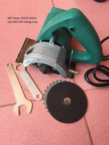 máy cắt gạch và gỗ- 1280W, tặng kèm theo máy 1 đĩa cắt ghạch + 1 đĩa cắt gỗ + 1 đĩa mài và phụ kiện tháo lắp đĩa