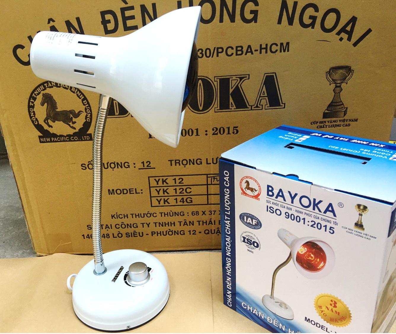 Đèn hồng ngoại trị đau nhức, sưởi ấm, trị tắc tia sữa, massage - đèn hồng ngoại Bayoka (đã có bóng 250w)