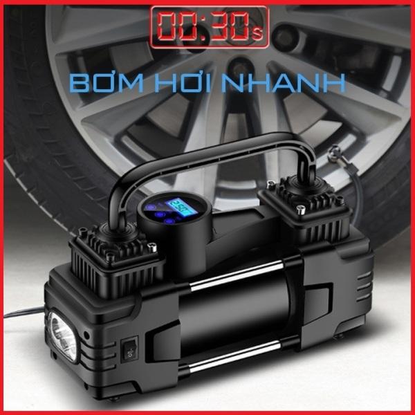 Bơm Ô Tô 2 Piston Xylanh AIR COMPRESSOR Công Suất Lớn Siêu Khỏe Siêu Nhanh - Máy Bơm Lốp Xe Hơi 12v - BH 9 tháng