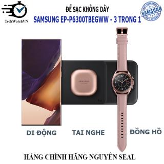 Đế Sạc Không Dây 3 Trong 1 Cho Điện Thoại Samsung EP-P6300TBEGWW thumbnail