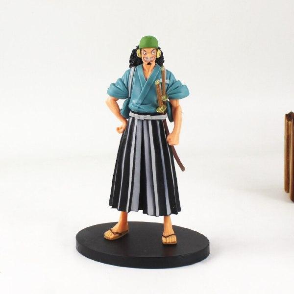 Mô hình One Piece, Mô Hình Thành Viên Băng Hải Tặc Mũ Rơm Luffy - Zoro - Sanji - Usopp cao 17cm ở Wano Quốc