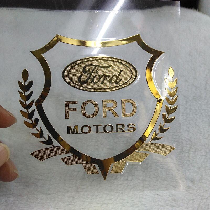 Bộ 2 Logo Decal 3D dán xe ô tô (Ford)