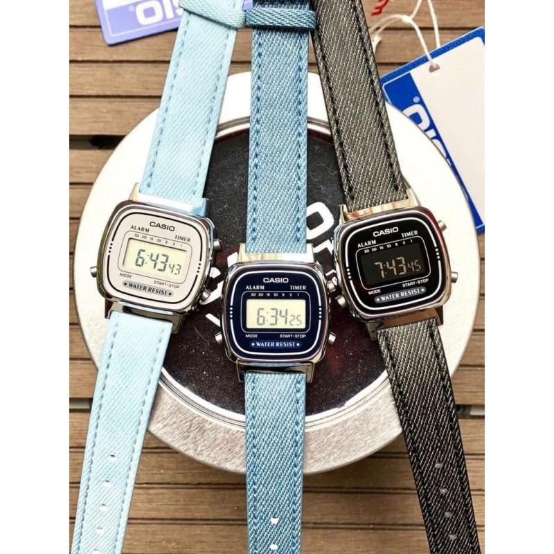 Đồng hồ Casio Nữ La670 dây Jeans - Chính hãng 100% - BH 1 năm