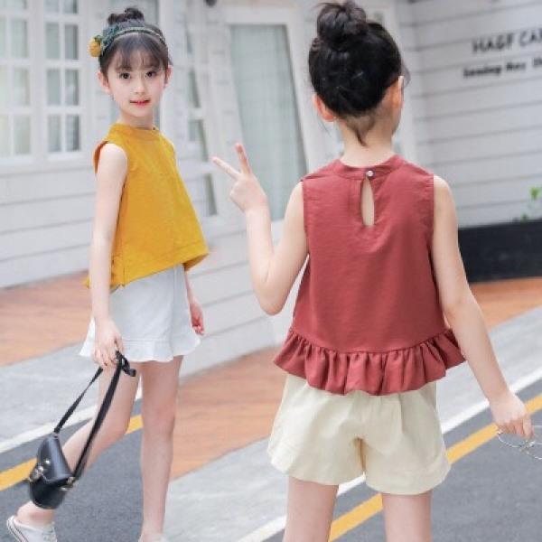 Giá bán sét đồ bộ quần đùi mát mẻ cho bé gái H0056
