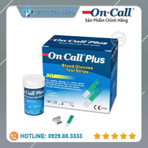 Que thử đường huyết Acon On call Plus lọ 50 que (Xanh trắng) bán chạy