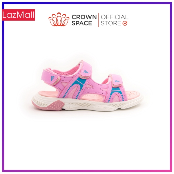 Giá bán Dép Quai Hậu Bé Gái Đi Học Chính Hãng Crown Space UK Sandals Trẻ em Xăng Đan Cho Bé Gái Từ 2 đến 14 Tuổi Size 25-35 Chất Liệu Cao Cấp Nhẹ Êm Thoáng Mát An Toàn Cho Bé CRUK541